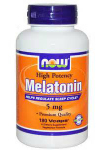 Melatonin 5 мг (180 капс), NOW Foods