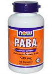 PABA 500 мг (100 капс), NOW Foods