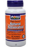 Natural Resveratrol (60 капс), NOW Foods