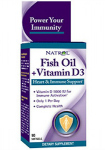 Fish Oil + Vitamin D3 (90 капс), Natrol