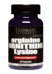 Arginine/Ornithine/Lysine (100 капс), Ultimate Nutrition